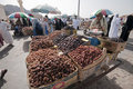 Arabs sell fresh dates at dates in Medina Stock Photography