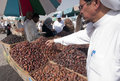 Arabs sell fresh dates at dates in Medina Royalty Free Stock Images