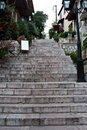 Arachova street stairs Stock Images