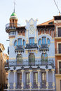 Aragon Teruel El Torico modernist building in Spain Royalty Free Stock Photos
