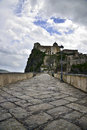 The aragonese castle a view of magnificient of ischia Royalty Free Stock Image