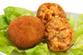 Arancini do arroz Fotografia de Stock
