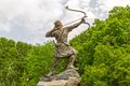 Arash the archer statue of kamangir in niavaran palace complex garden is a heroic figure of iranian oral tradition and Stock Images