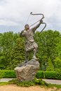 Arash the archer statue in park of kamangir niavaran palace complex garden is a heroic figure of iranian folktale tradition Royalty Free Stock Image