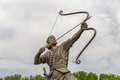 Arash the archer tightens arrow statue of kamangir in niavaran palace complex garden is a heroic figure of iranian oral tradition Royalty Free Stock Images