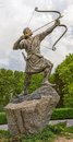 Arash the archer whole statue of kamangir in niavaran palace complex garden is a heroic figure of iranian oral tradition and Stock Photography