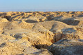 Arava desert in the first rays of the sun Royalty Free Stock Photos