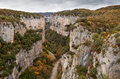 Arbayun canyon in autumn, Spain Royalty Free Stock Photo
