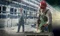 Arbeiders bij een bouwwerf