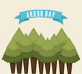 Arbor day over white background vector illustration Stock Photography