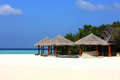 Arbor on maldives beach the beautiful at Stock Images