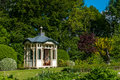 Arbor in a mansion garden romantic Stock Images