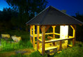 Arbour in the summer night Royalty Free Stock Photo