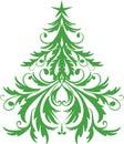 Arbre d'ornamental de Noël Photo stock
