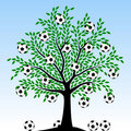 Arbre du football Photos libres de droits