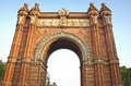Arc de triomf in barcelona spain Royalty Free Stock Photo