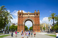 Arc de triomf in barcelona spain designed by josep vilaseca it was built for the universal exposition as its main access gate Royalty Free Stock Photography
