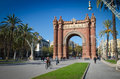 Arc de triomf in barcelona triomphe Stock Images