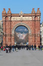 Arc de triomf barcelona the is a triumphal arch in catalonia it was built for the exposición universal as its main Stock Photography
