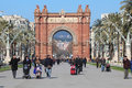 Arc de triomf barcelona the is a triumphal arch in catalonia it was built for the exposición universal as its main Stock Photo
