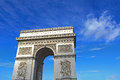 Arc de triomphe arch of triumph paris france Stock Image