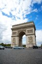 Arc de triomphe in the champs elysees paris france Royalty Free Stock Photos