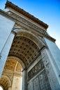 Arc de triomphe de l étoile in paris one of the most famous monuments in paris it stands in the centre of the place charles Stock Images