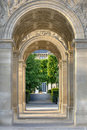 Through Arc de Triomphe du Carrousel Royalty Free Stock Photography