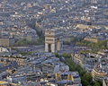 Arc de triomphe from the Eiffel tower Royalty Free Stock Photo
