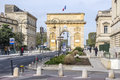 Arc de Triomphe in Montpellier, dating from 1692, with surroun Royalty Free Stock Photo