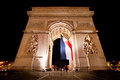 Arc de Triomphe by night, Paris. Royalty Free Stock Photos