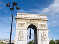 Arc de Triomphe, Paris Stock Photography