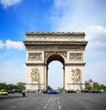Arc de triomphe in paris Stock Photography