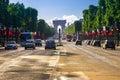 Arc de triomphe Paris afternoon