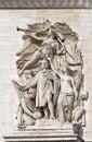 Arc de triomphe paris detail from Stock Images