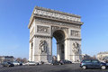 Arc de triomphe paris france january on january triumphal arch monument for french revolutionary and the napoleonic wars in paris Stock Images