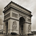 Arc de triomphe in paris france may the on may located the center of the place charles gaulle and inspired by the roman arch of Royalty Free Stock Image