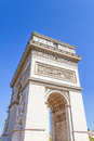 Arc de triomphe paris france view of the Stock Photos