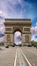 Arc de triomphe paris triumph arc at summer sunset Royalty Free Stock Photos