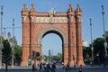 The Arc de Trionf Barcelona Spain Stock Photo