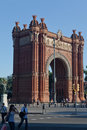 The Arc de Trionf Barcelona Spain Stock Photos