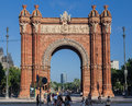 The arc de trionf barcelona spain triumph arch of with its typical architecture style at passeig lluis companys catalunia Royalty Free Stock Photo