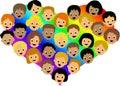 Arc-en-ciel de coeur d'enfants d'AI Image stock