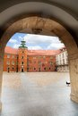 Arc of the gates to Royal Castle, Warsaw Royalty Free Stock Photo