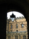 Arc and lamp in Durham Castle Royalty Free Stock Photo