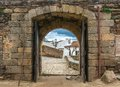 Arc of old town narrow Stock Photography