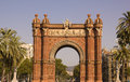 Arc of triumph of Barcelona, Catalonia, Spain. Royalty Free Stock Images