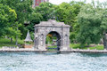 Arcada al castillo de boldt isla del corazón alexandria bay nueva york Fotos de archivo libres de regalías