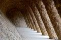 Arcade. Antonio Gaudi. Parc Guell.