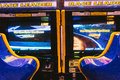 Arcade game machines in a room Royalty Free Stock Photos